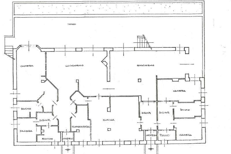 pianta attico como zona bignanico