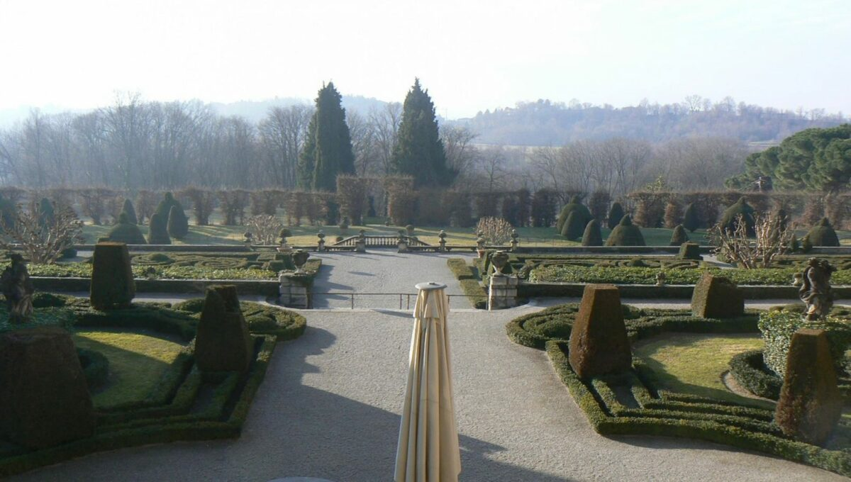 vista dei giardini dalla villa