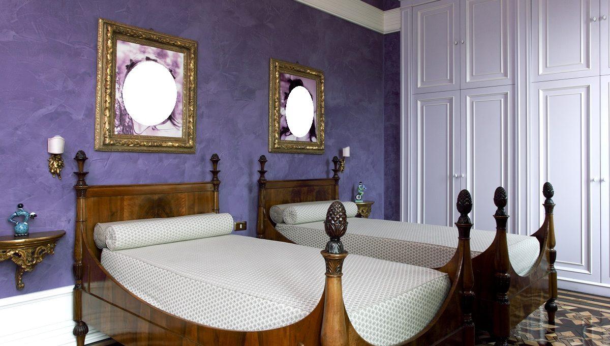 Prestigiosa villa sul Lago di Como in vendita camera da letto