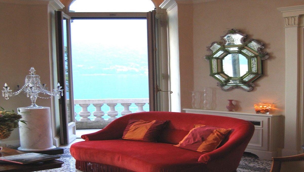 Vista lago di Como dal soggiorno