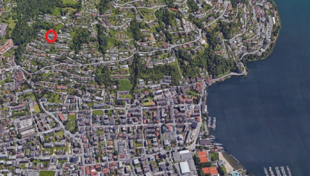 Ubicazione vista dall'alto sulla città di Lugano