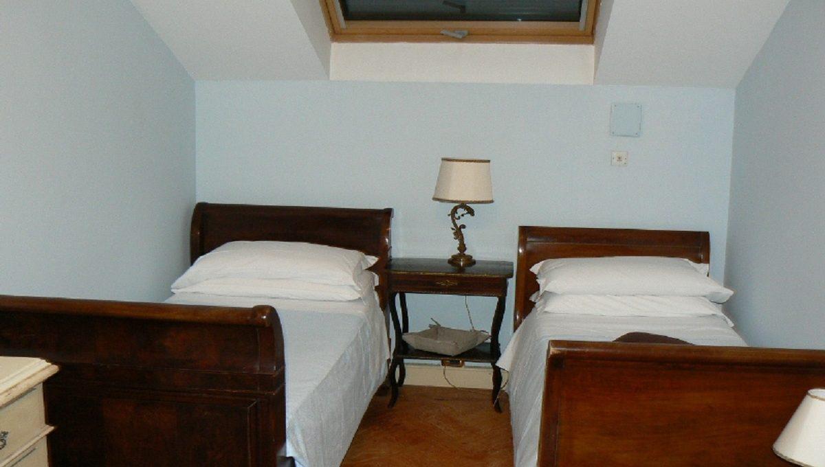 Zona notte con doppio letto
