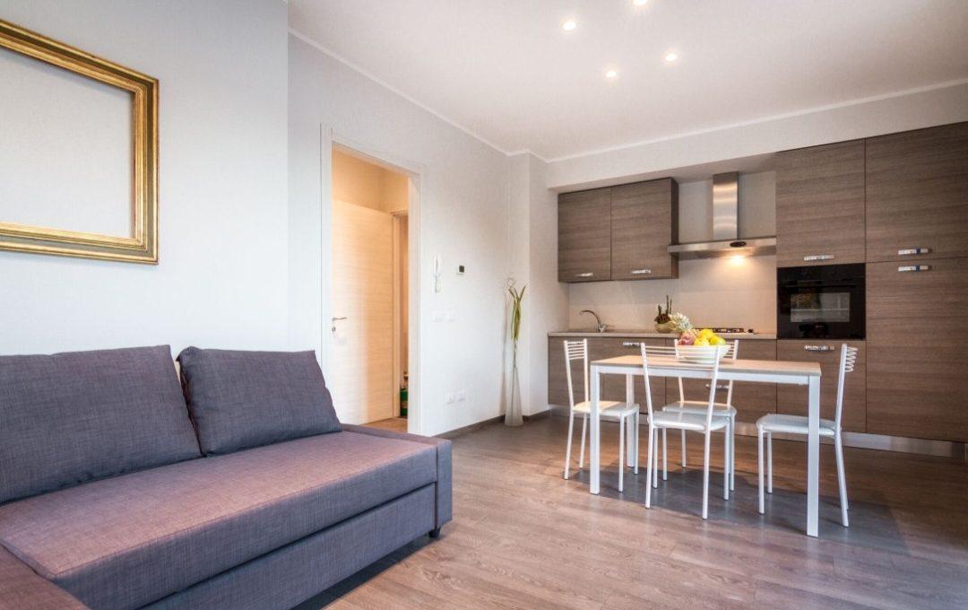 cucina open space e soggiorno