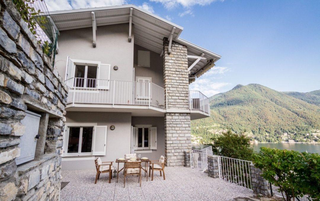 Moltrasio appartamento in vendita vista laterale dell'immobile