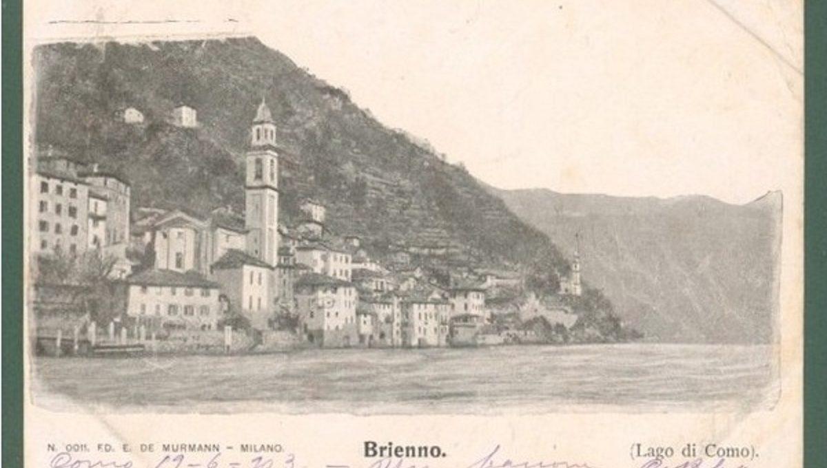Cartolina d'epoca del paese di Brienno