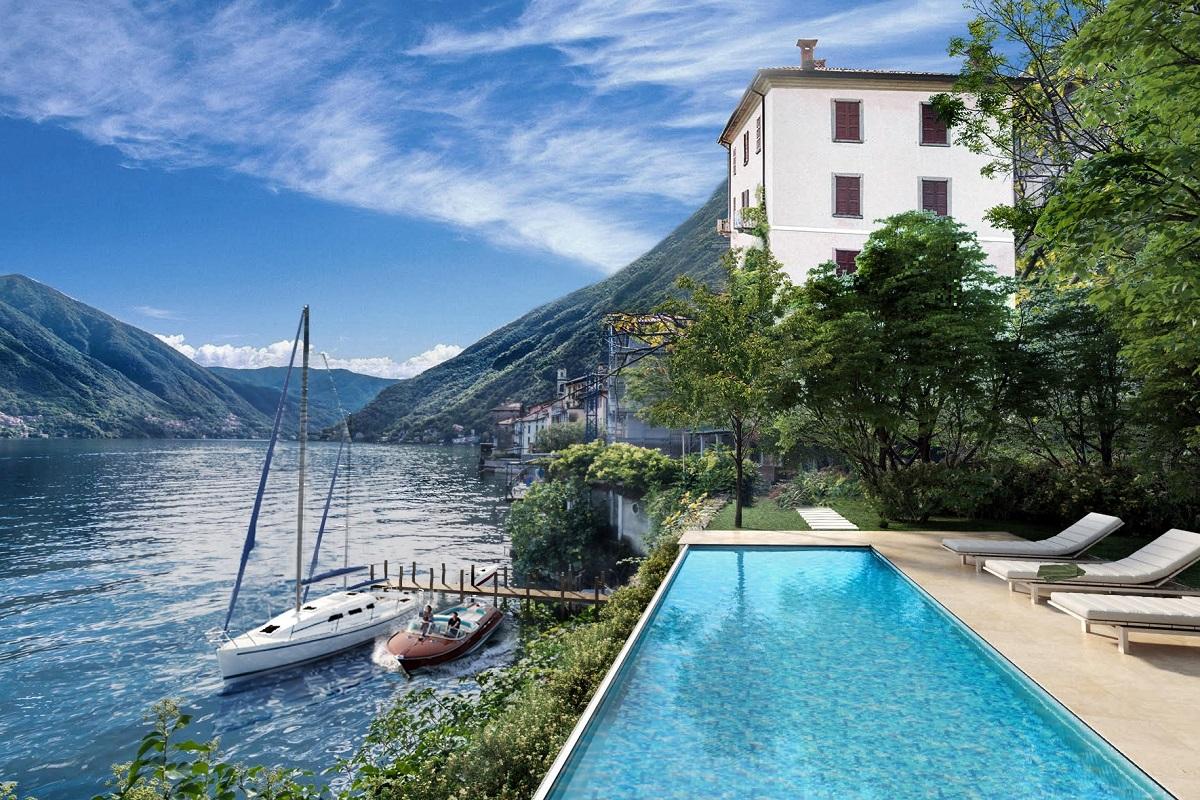 Villa Pieds Dans L'eau Sul Lago Di Como Brienno