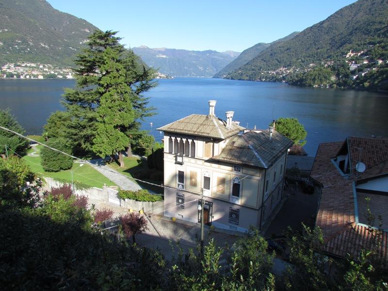Villa Faggeto Lario vista lago di Como