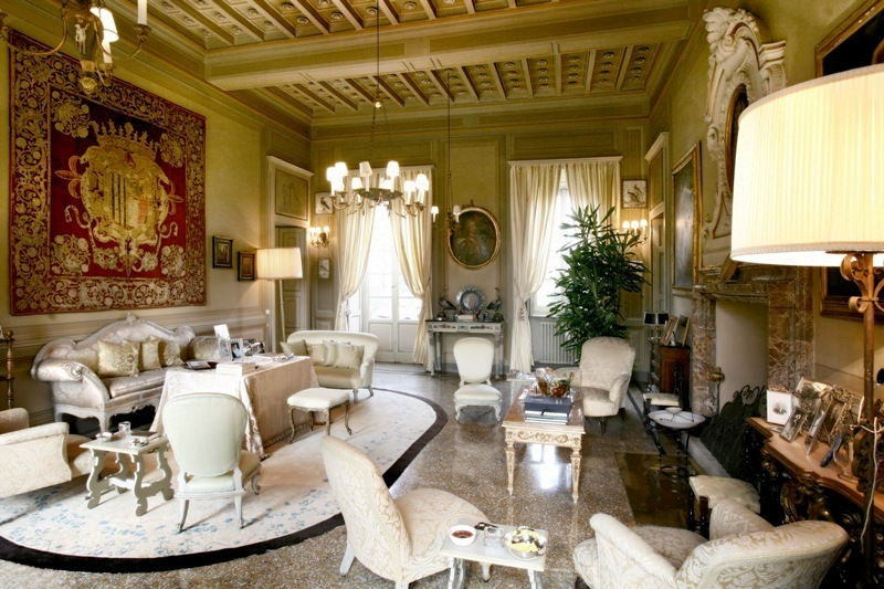 salotto della villa