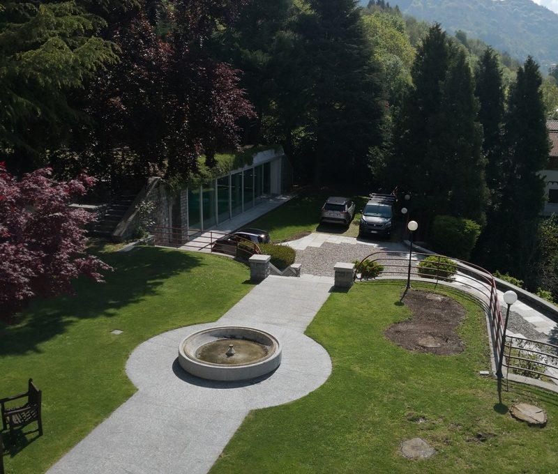 giardino con vista montagne san fedele intelvi