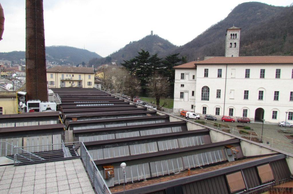 vista Basilica ed Università Sant Abbondio