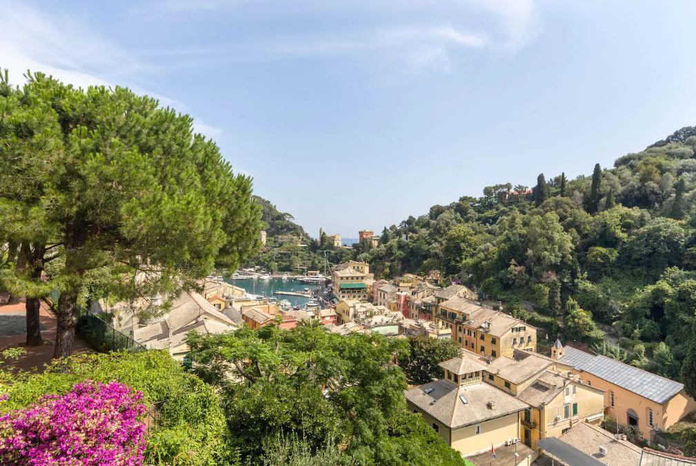 Vista dalla Terrazza della magnifica villa in vendita a Portofino
