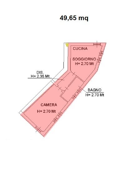 appartamento sottostrada mq