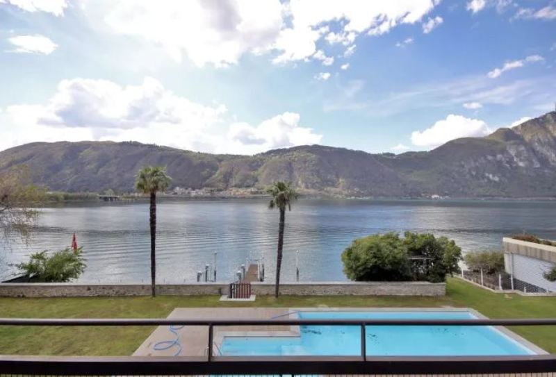 bissone villa vista lago