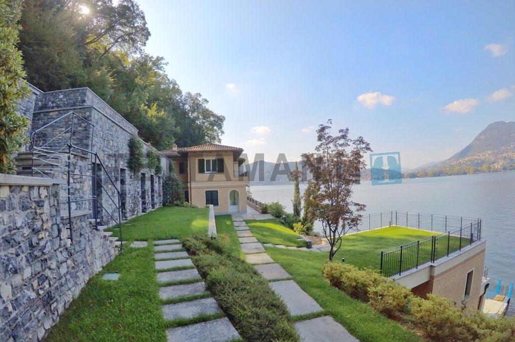villa fronte lago 600 mq con piscina como