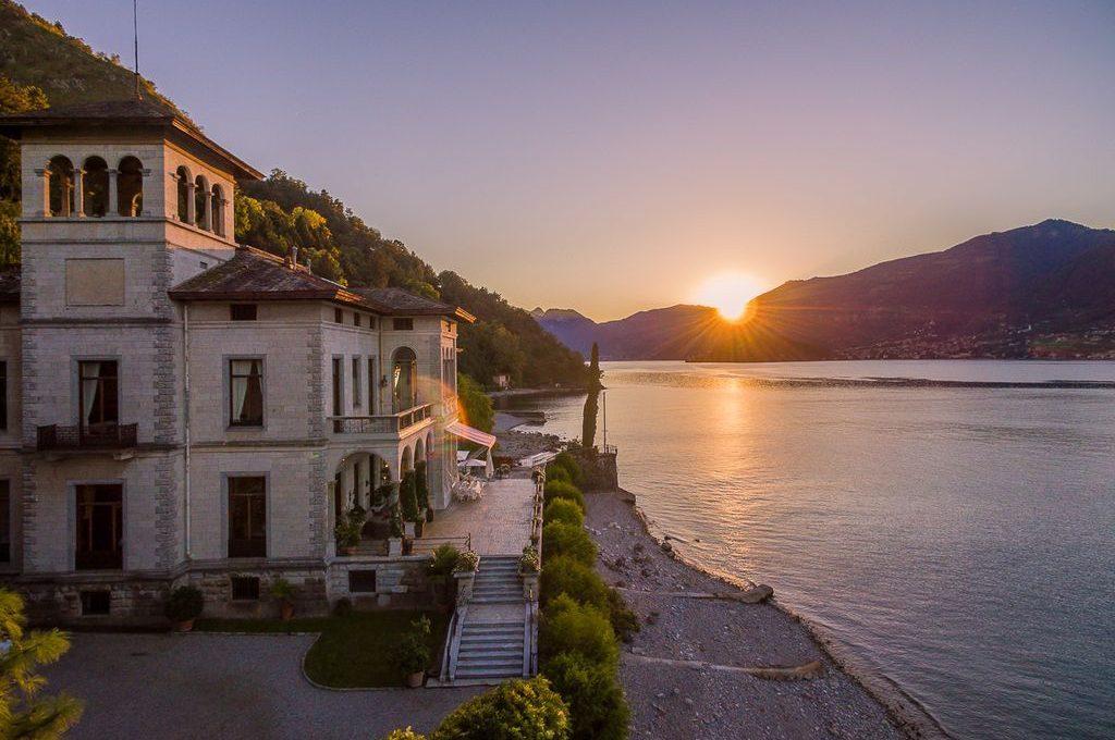 Villa a Bellagio tramonto