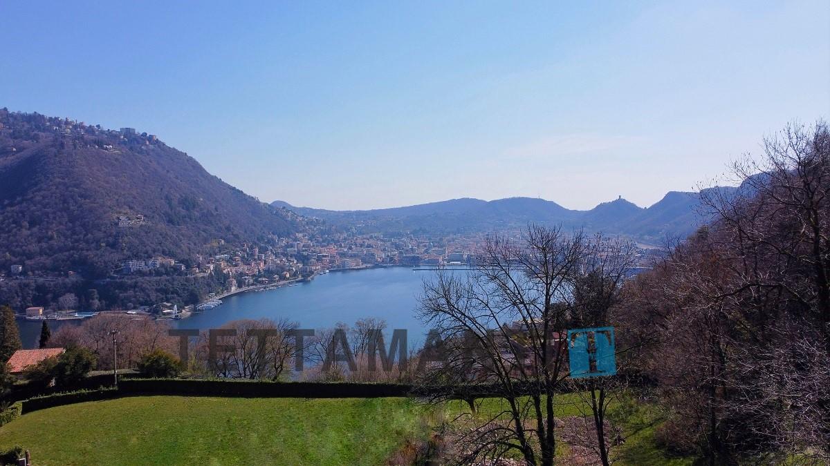 vista lago e città di como