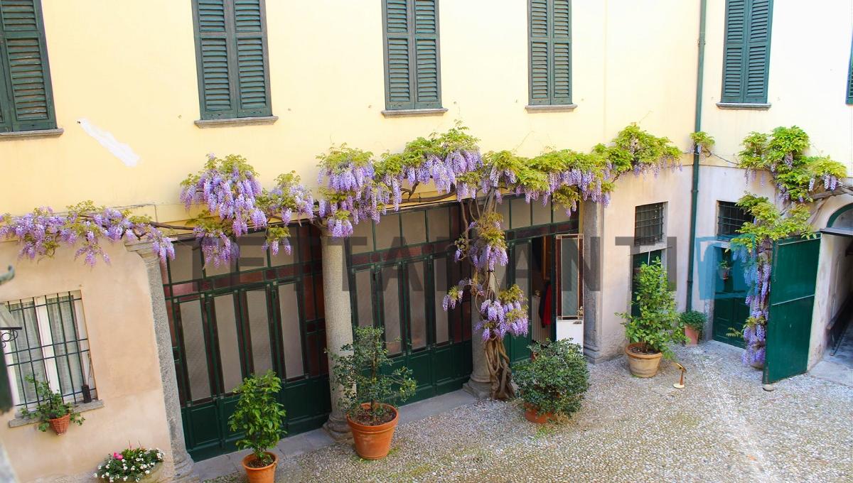 portico fiorito con glicine